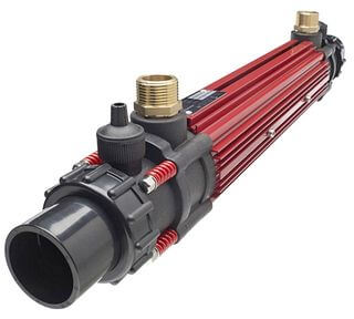 Tube heat exchanger for swimming pool Elecro G2 Titanium